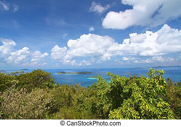 United States Virgin Islands - View of the Caribbean from...