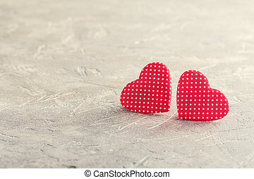 Valentine's day red hearts