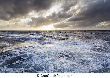 Stormy seas in the Southern ocean