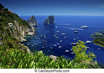 Capri - The view from Giardini di Augusto, Capri