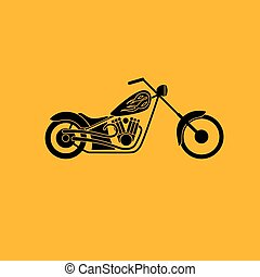 low rider icon - motorbike low rider icon, vector...