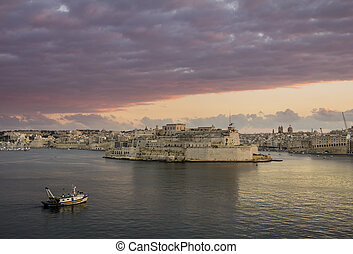 Valetta L'Isla - View from Valetta city walls towards L'Isla...