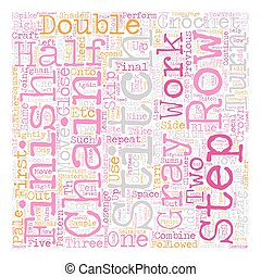How to Finish the Sample Square in Craft text background wordcloud concept