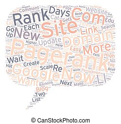How To Get A Pagerank In Days text background wordcloud...