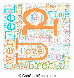 How to Get over a Break up text background wordcloud concept