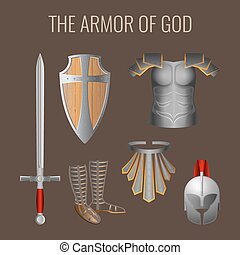 Long sword of spirit, readiness shield, armour salvation...