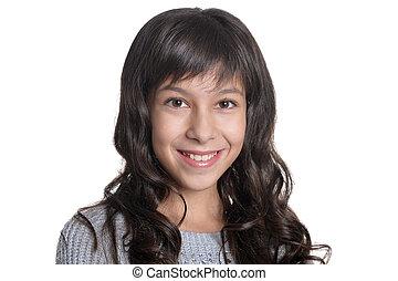 close up portrait of brunette girl