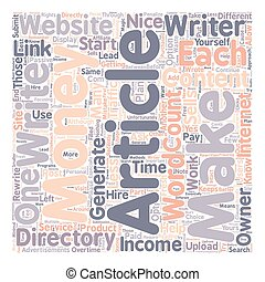 How to Make Money with Article Directories 1 text background wordcloud concept