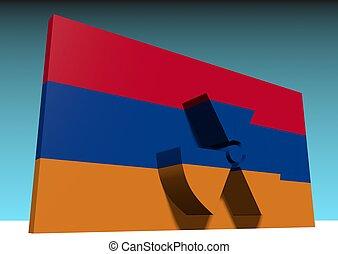 atom energy of armenia - atom energy symbol and armenia...
