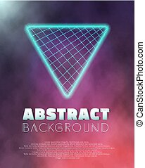 Music Abstract Poster Cover 1980s Style Background -...
