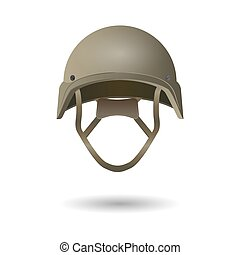 Military tactical helmet. Army and police symbol of defense....