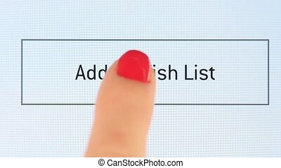 Button add to wish list on various internet websites