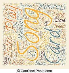 How To Memorize A Song The Easy Way text background...