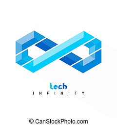 Infinity symbol. Tech style limitless sign icon.