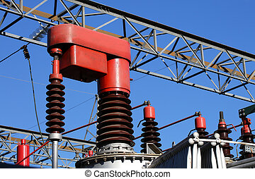 red electrical component in a power plant to automatically...