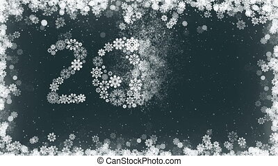 Happy New Year 2017 Greeting Card Background with Border of...