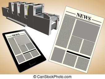 New journalism tools - Newspaper published in two formats:...
