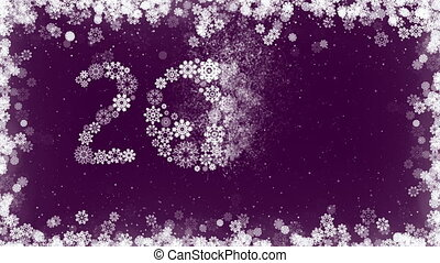 Happy New Year 2017 Greeting Card Purple Background with...