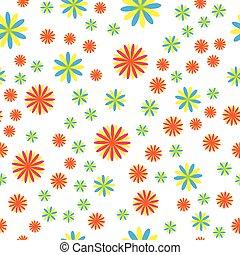 Seamless pattern with beautiful flowers