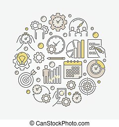 Productivity vector illustration - Productivity and time...