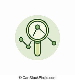 Magnifying glass green icon