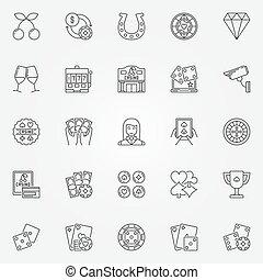 Casino line icons