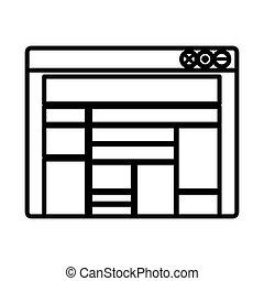 Isolated website design