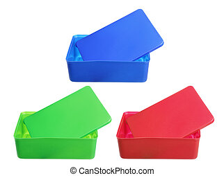 Lunch Boxes on White Background