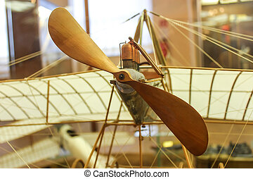 DaVinci's airplane model - Wooden airplane model built by...
