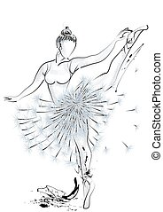Ballet dancer and dandelion - Ballet dancer and abstract...
