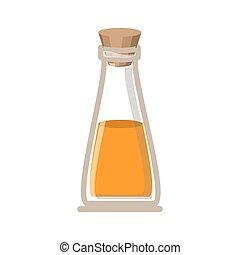 Oil flask of spa center design - Oil flask icon. Spa center...