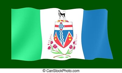 Flag of the Canadian Province of Yukon. - Flag animation...