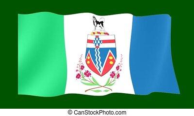 Flag of the Canadian Province of Yukon. - Flag animation...
