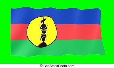 Pro Independence flag. Waving - Flag animation Background...