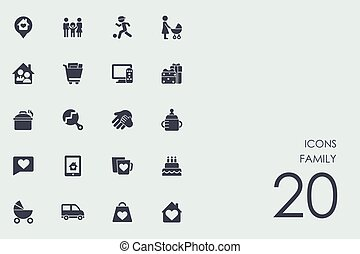 Set of family icons - family vector set of modern simple...