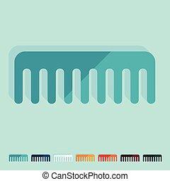 Flat design: comb