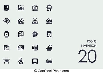 Set of invention icons - invention vector set of modern...