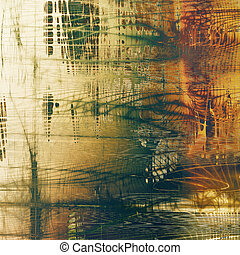 Scratched grunge background or spotted vintage texture. With different color patterns: yellow (beige); brown; gray; green; red (orange); white