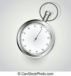 Stop watch isolated on white background vector illustration.