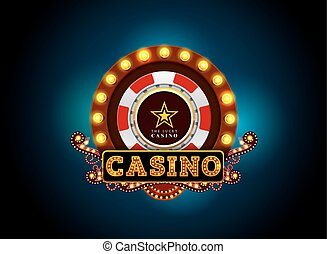 casino neon light sign