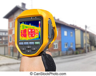 Recording Heat Loss at the House with or without facade With...