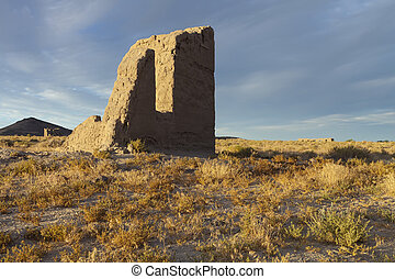 Fort Churchill, Nevada, USA, are the remains of a United...