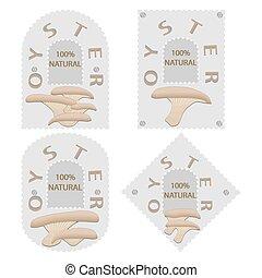 Abstract vector illustration of logo for mushroom