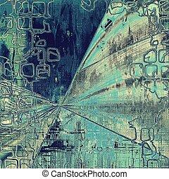Geometric old vintage backdrop. Original background or aged...