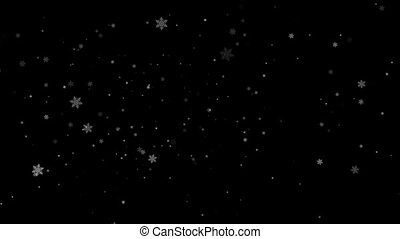Snowflakes with alpha channel - Animation snowflakes with...