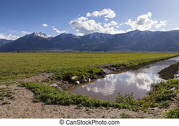 Irrigation Ditch in Carson Valley, Nevada
