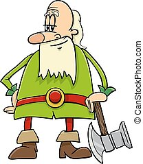 dwarf cartoon character - Cartoon Illustration of Dwarf with...