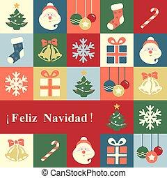 Felicitación Feliz Navidad Vector