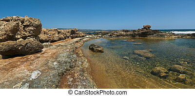 shallow water with rocks in Cyprus