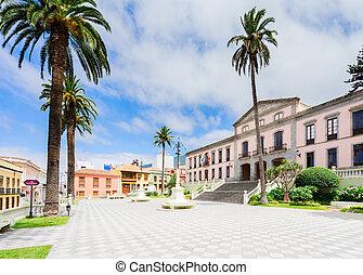 La Orotava, Tenerife village - Ayntamento of La Orotava,...